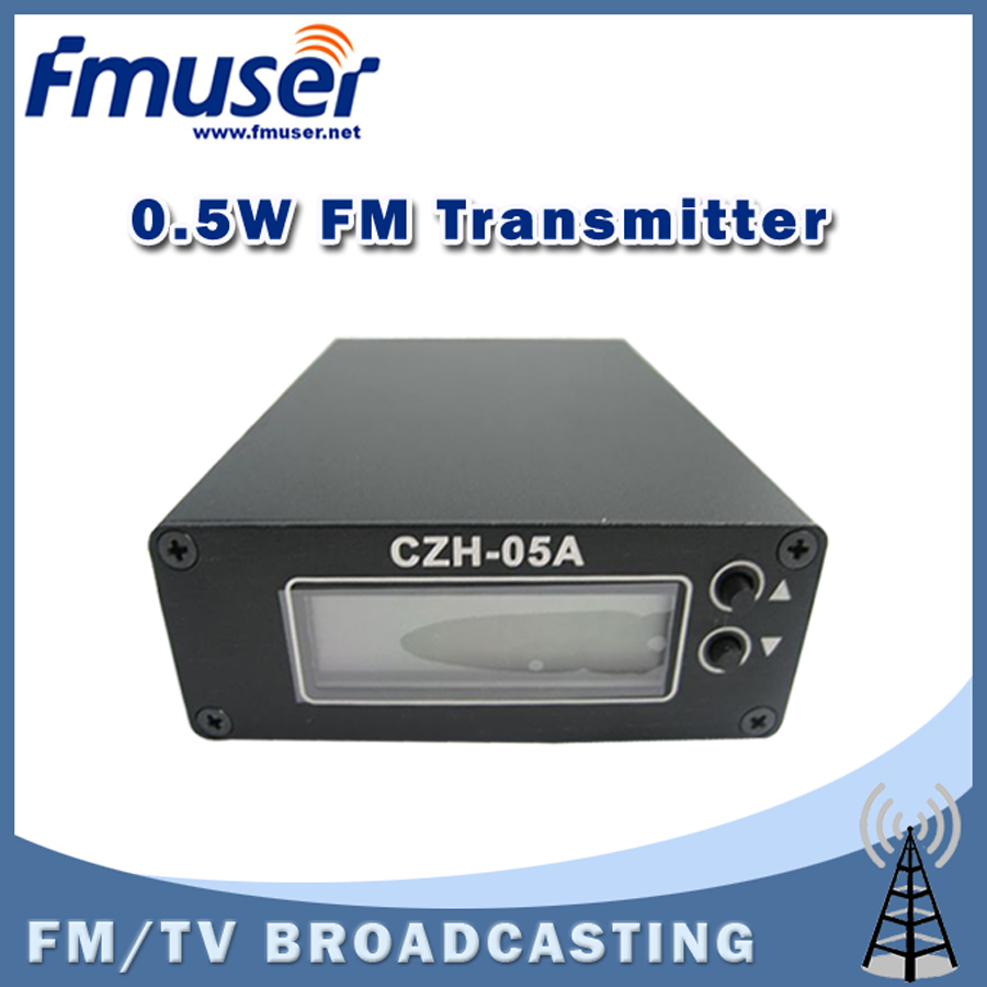 Free Shipping FMUSER CZH-05A 0.5W FM transmitter for radio broadcast FM station Clear Stock Lowest Price free shipping fmuser fsn 150k 150w fm broadcast transmitter assemble pcb kit
