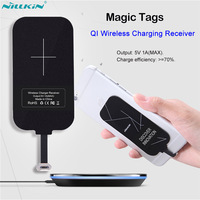 Nillkin Universal QI Wireless Charging Receiver Micro USB Lightning Port Adapter Bag Coil For IPhone 5