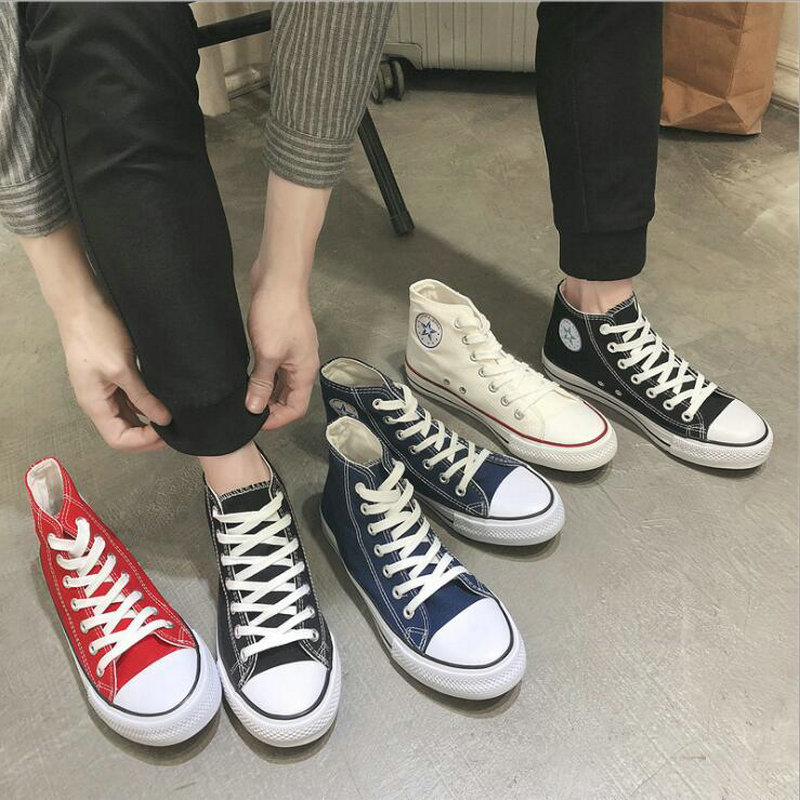 Unisex Sneakers lovers black white red green Men High top Canvas Shoes Fashion Boys students Casual Flats Shoes VV-71Unisex Sneakers lovers black white red green Men High top Canvas Shoes Fashion Boys students Casual Flats Shoes VV-71