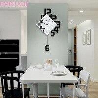 Nordic Style Living Room Wall Clocks Fashion Creative Bedroom Silent Quartz Watches Swing Wall Clock Modern Design