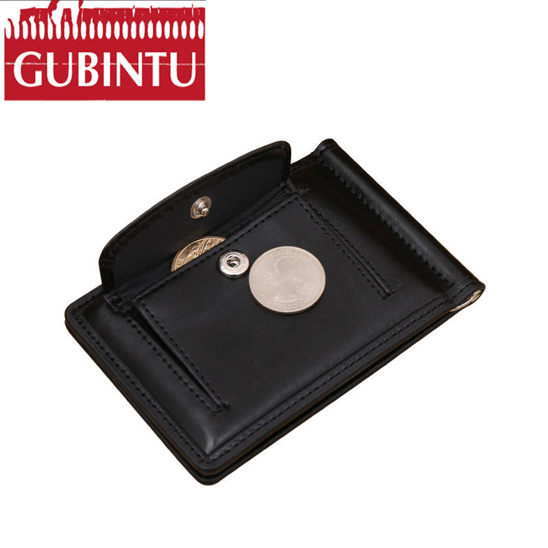 GUBINTU PU Leather Men Wallets Man Famous Brand Small Short portomonee with Hasp Coin Po ...