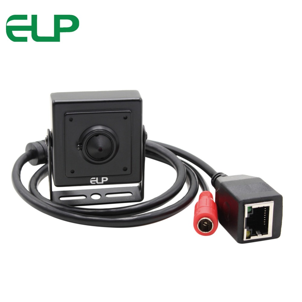 1.0megapixel Network Cctv Camera Super Mini 40*40mm 720p Hd Surveillance Ip Camera 3.7mm lens with power adapter ELP-IP1891-P dc 12v power supply cctv security 720p mini 3 7mm lens hd ip webcam with free mobile phone view app elp ip1891
