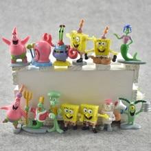 8 Styles SpongeBob Classic Anime PVC Patrick Star/Squidward Tentacles/Eugene/Sheldon/Gary Action Figures Kid Toy Christmas Gifts