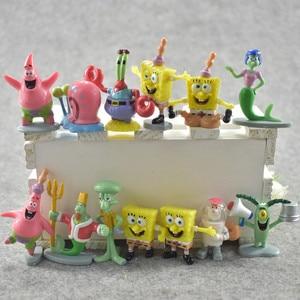 8 Stijlen Spongebob Classic Anime Pvc Patrick Star/Squidward Tentacles/Eugene/Sheldon/Gary Actiefiguren Kid speelgoed Kerstcadeaus(China)