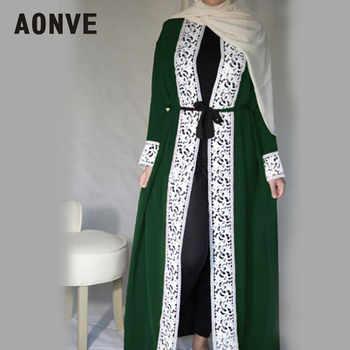 Aonve Long Lace Red Abayas Islamic Women Djellaba Dubai Lace Turkish Robes Arab Ladies Open Kaftan Muslim Moroccan Black Abaya - DISCOUNT ITEM  41% OFF All Category