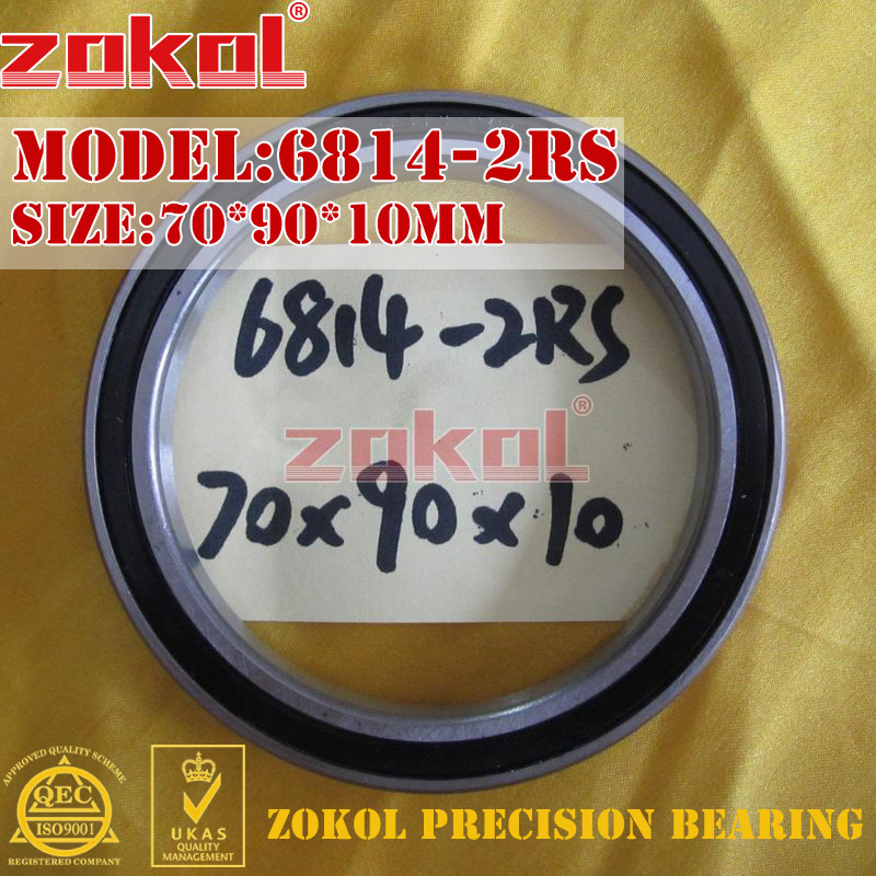 ZOKOL 6814 RS Bearing 6814 2RS ZZ 6814ZZ 6814-2RS Deep Groove Ball Bearing 70*90*10mm