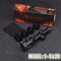 Tactical Hunting TR1 4x20 Optics Rifle Scopes Optical Sight Collimator Sight Compact Short CQB Airgun Air Rifle Scope Mount