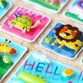 Животных Зоопарка Попугай Зебры Львов Крокодил Обезьяна Змеи Высокое Качество Мило Emoji Вознаградить Детей Детей Скрапбукинга ПВХ 3D Наклейки