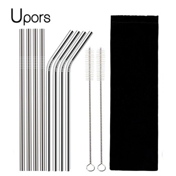 4 Piece Reusable Stainless Steel Straw Set