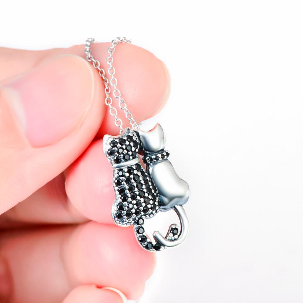 e600e397e157 Collar con colgante de plata de ley 925 a la moda para mujer ...