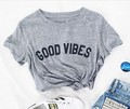 Neue ankunft good vibes mode tumblr t shirt beiläufiges mädchen tops tees Unisex t shirt hohe qualität t shirt casual t shirt-in T-Shirts aus Damenbekleidung bei