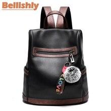 Купить с кэшбэком Bellishly Fashion Backpack Women Leisure Korean Ladies Knapsack Casual Travel Bags for School Teenage Girls Classic BackPacks