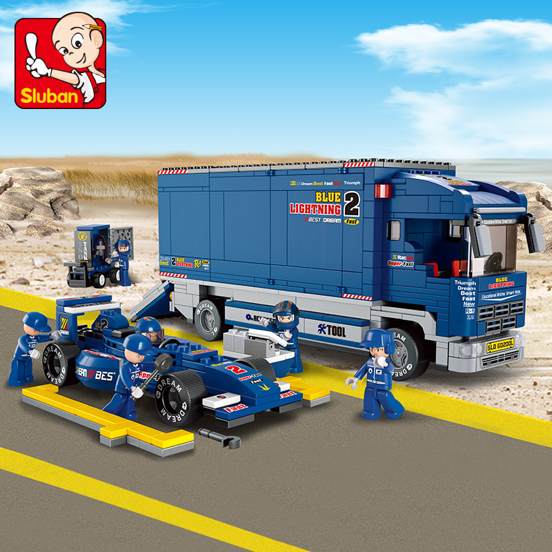 641pcs Legoings City F1 Transport Truck Building Blocks Bricks Educational Toys For Children Birthday Present