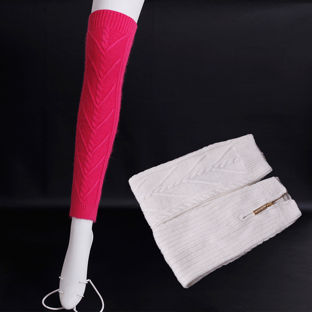 11 Colors wool knitting Leg Warmers Zipper open Thigh stockings Women Knit boots stockings Solid color Fashion women Leg Warmers