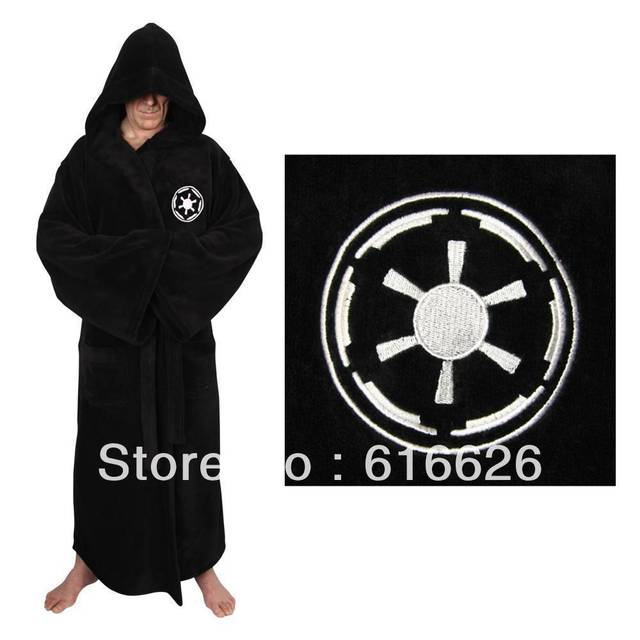 9107172385 free shipping coral fleece Star Wars Darth Vader Galactic Empire Adult  Costume Bathrobe