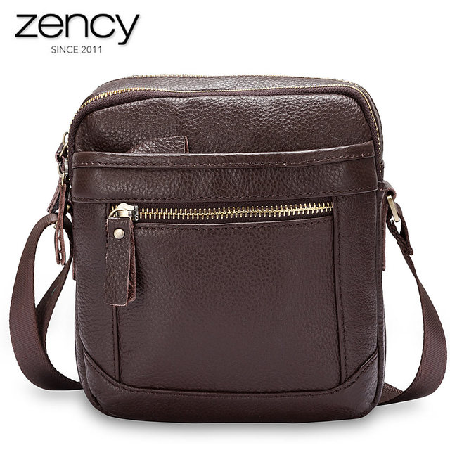 Male Genuine Leather Handbags Men S Bags Over The Shoulder Fashion Young Man Crossbody Purse Casual Zipper
