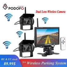 Podofo Wireless Dual Auto di Backup Telecamera per la Retromarcia Sistema di Assistenza Al Parcheggio macchina fotografica Impermeabile di IR di Visione Notturna 7