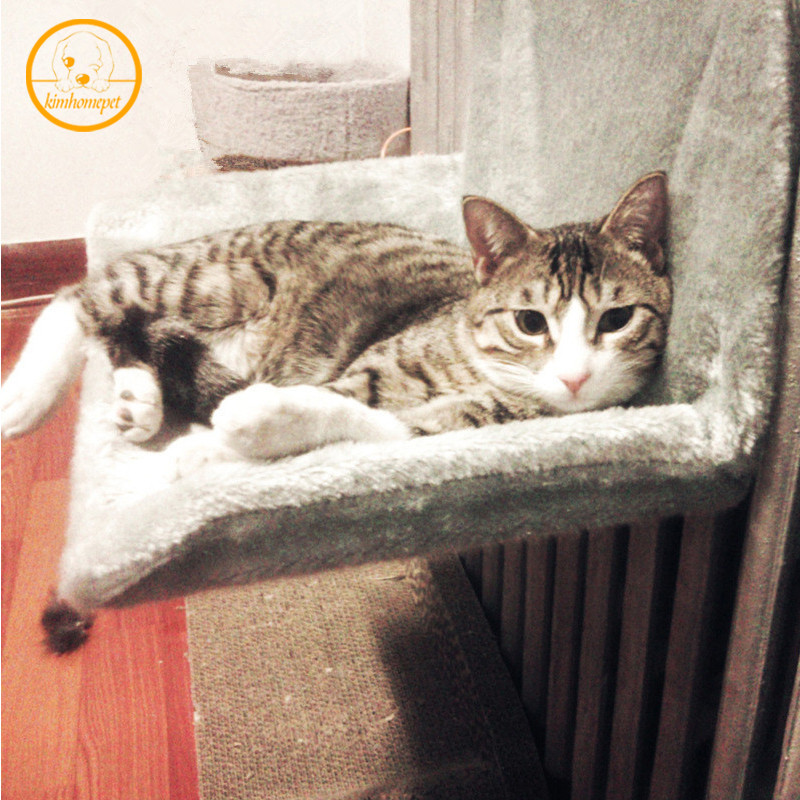Pet Hammock Suction Pad Fleece Pet Bed Tv Window Mounted Cat Bed Sturdy Pet Nest Sunny