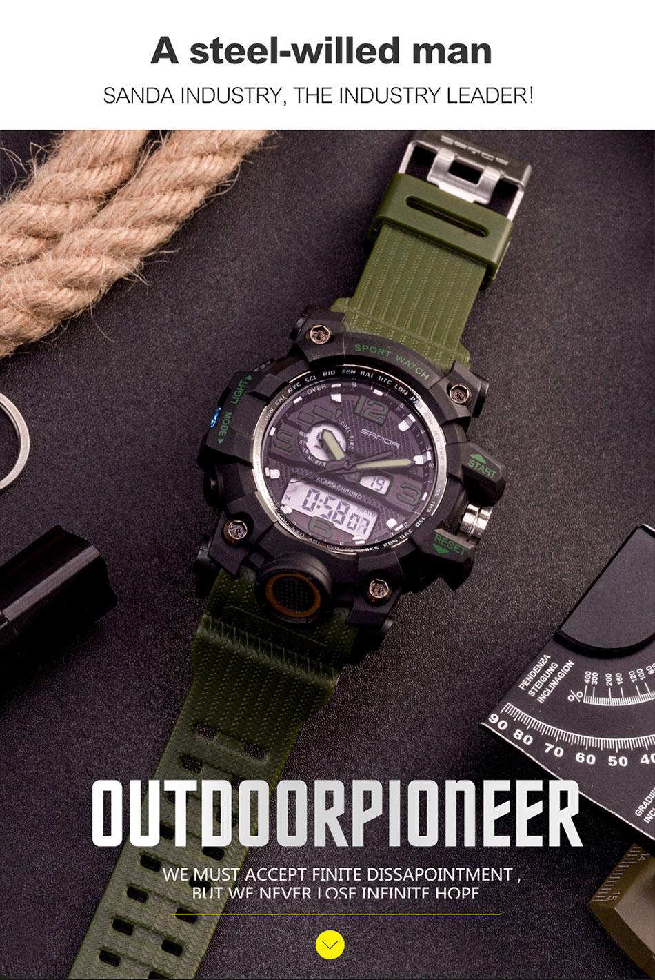 HTB1MONRSpXXXXXCXXXXq6xXFXXXM - SANDA Waterproof Sport Watc for Men