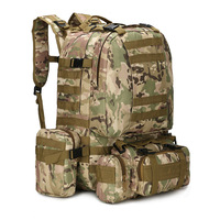 50L Tactical Backpack Military Molle Army Bag 1000D Nylon Rucksack Hunting Camping Hiking Travel Camouflage Backpack Outdoor