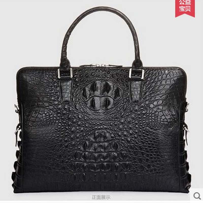Cestbeau real crocodile skin Men's bags handbag 2019 new men briefcase Black men's business bag