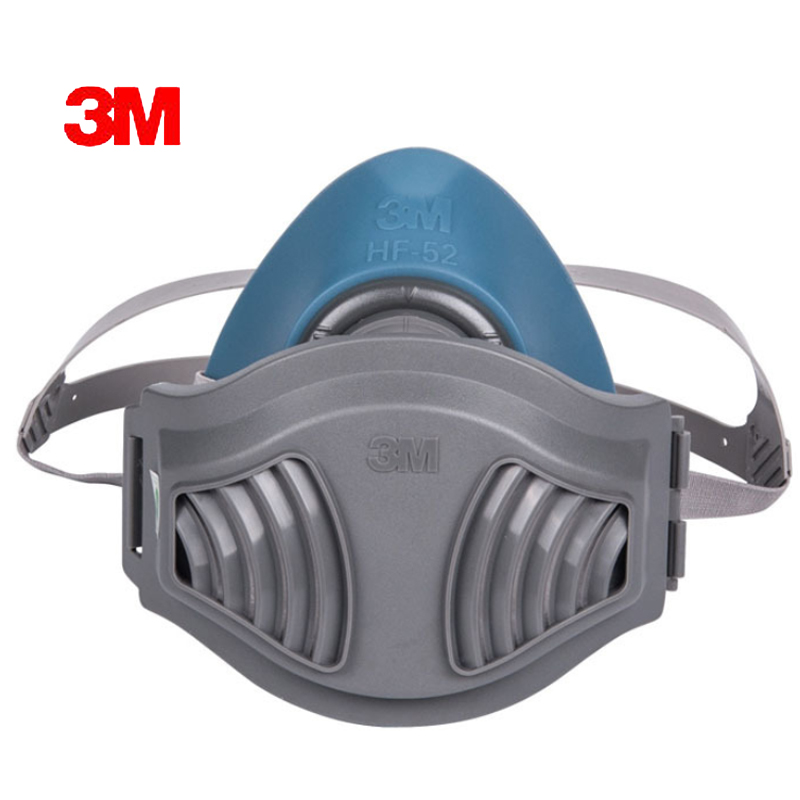 3MHF+10pc1701Filter cotton Quality silicone Half Face Gas Mask KN95 Dust Anti industrial conatruction Dust pollen Haze poison 10pcs kn95 anti dust dust masks anti pm2 5 industrial construction dust pollen haze gas family and pro site protection tool