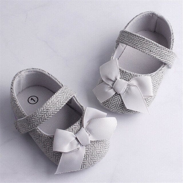 Hot Toddler Girl Houndstooth Crib Shoes Newborn Baby Bow-knot Soft Sole Hook and Loop Fastener Prewalker Sneakers