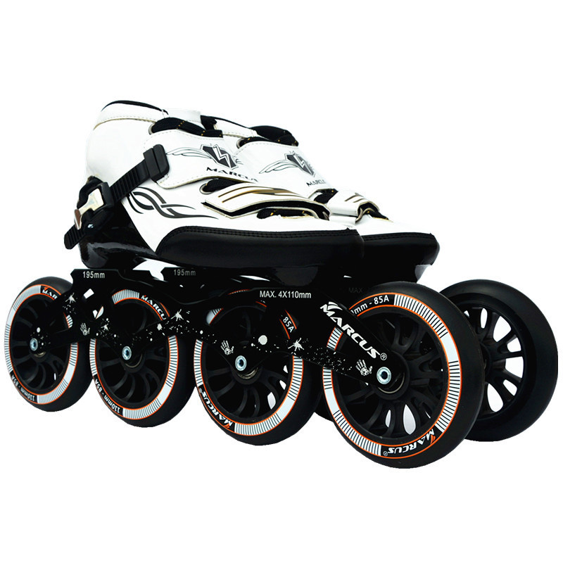 Worth Carbon Fiber Fiberglass Speed Inline Skates White Kid s Adult Competition Street Racing Sport Shoes
