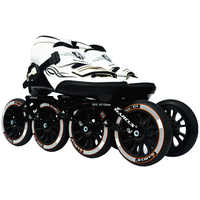 Worth! Carbon Fiber Fiberglass Speed Inline Skates White Kid's Adult Competition Street Racing Sport Shoes Training Patines