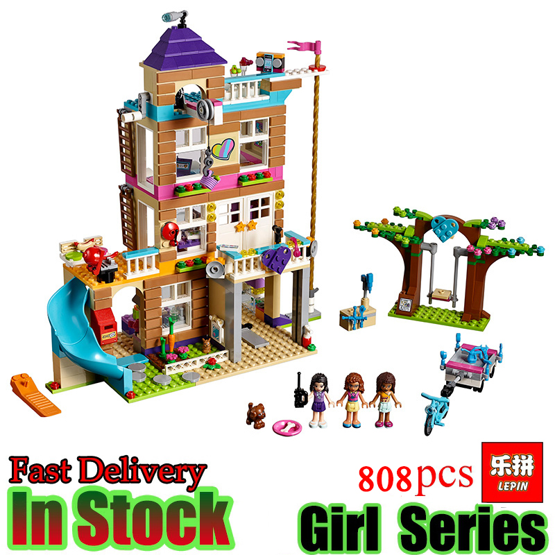 Lepin 01063 Girls Series 808Pcs The Friendship House Set Building Blocks Bricks toys Compatible Friends 41340