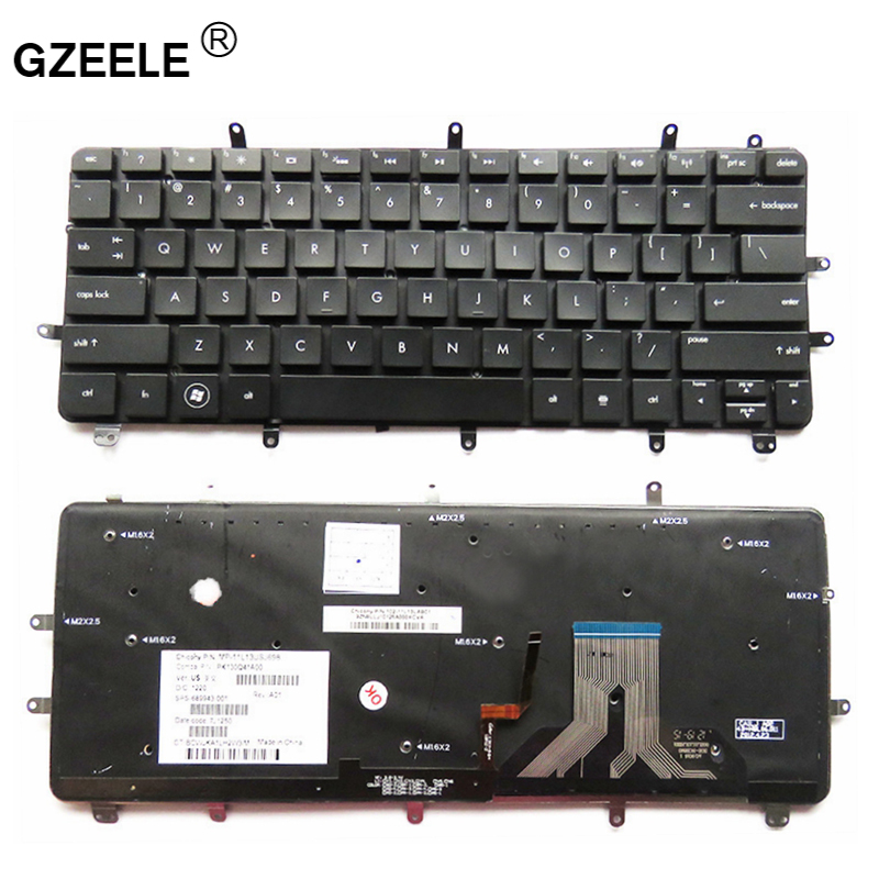 GZEELE English laptop Keyboard for HP Spectre XT Pro 13-2000 US laptop keyboard Backlight black