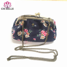 2017 fashion girl printed canvas handbag women leisure beach bags small capacity single shopping for daily use