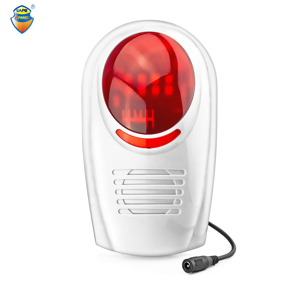New!High Quality Wireless Waterproof Outdoor Strobe Siren home alarm For GSM Alarm System Security цена и фото