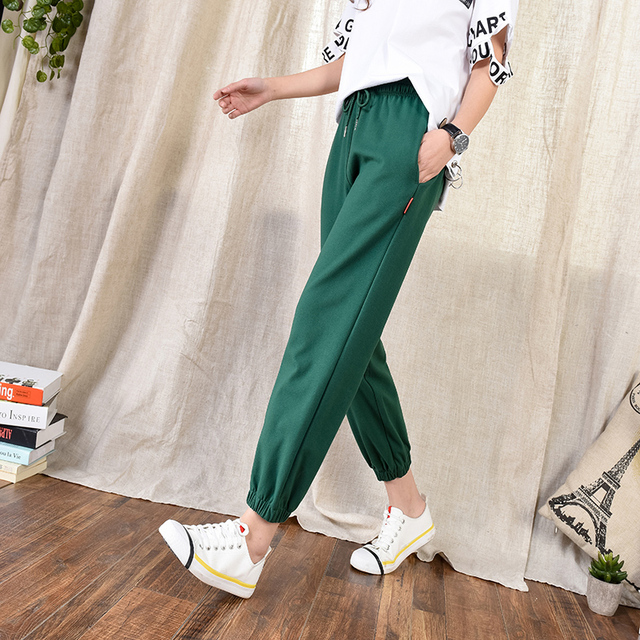85501b9f4 Spring Pants Women 2018 Sweat Pants Joggers Fashion Femme Streetwear Pantalon  Green Harem Pants Women New Style Sarouel Femme