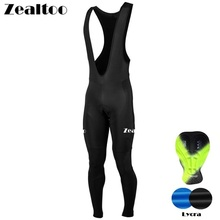 Zealtoo 2018 Spring Ropa Ciclismo Quick-dry Black Cycling pants tights MTB Bicycle maillot bike culote ciclismo hombre