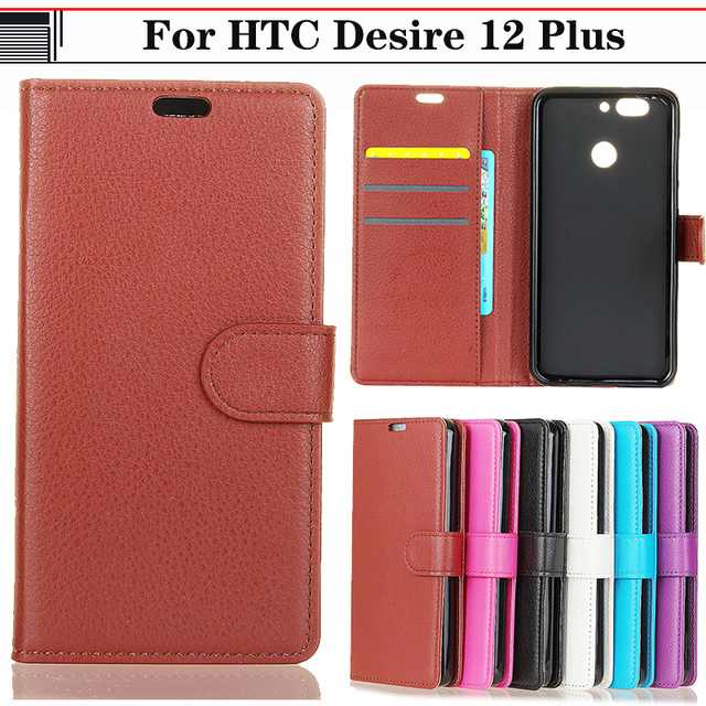best service 67843 0618d US $4.19 |JURCHEN Wallet Coque For HTC Desire 12 Plus Back Cover For HTC  D12 Plus Case Leather Flip Phone Case For HTC Desire 12 Plus Case-in Flip  ...