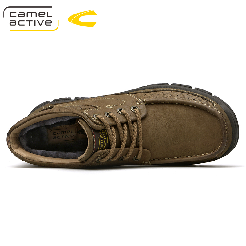 Image 5 - Camel Active New Outdoor Winter Snow Boots High Quality Mens  Riding Boots Luxury Genuine Cow Leather Fashion Ankle BootsSnow Boots