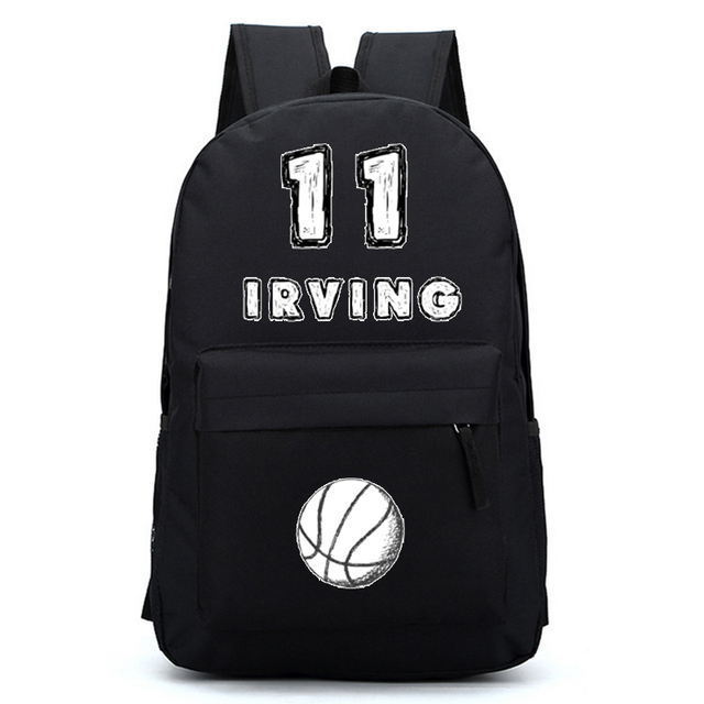 Irving Basket Ball Cartoon Backpacks Boy School Bags Teenager Shoulder Bags  Travel Bag Kids Backpack Mochila Deportes Baloncesto c19f7a98b8