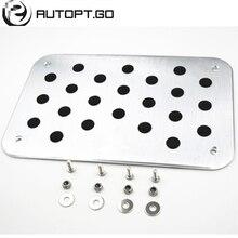 Universal de Alumínio Antiderrapante Pé Tapetes de Carpete Piso Almofadas Pedal Com Parafusos Para Todos Os Honda Civic Accord Crv Série Pedal placa