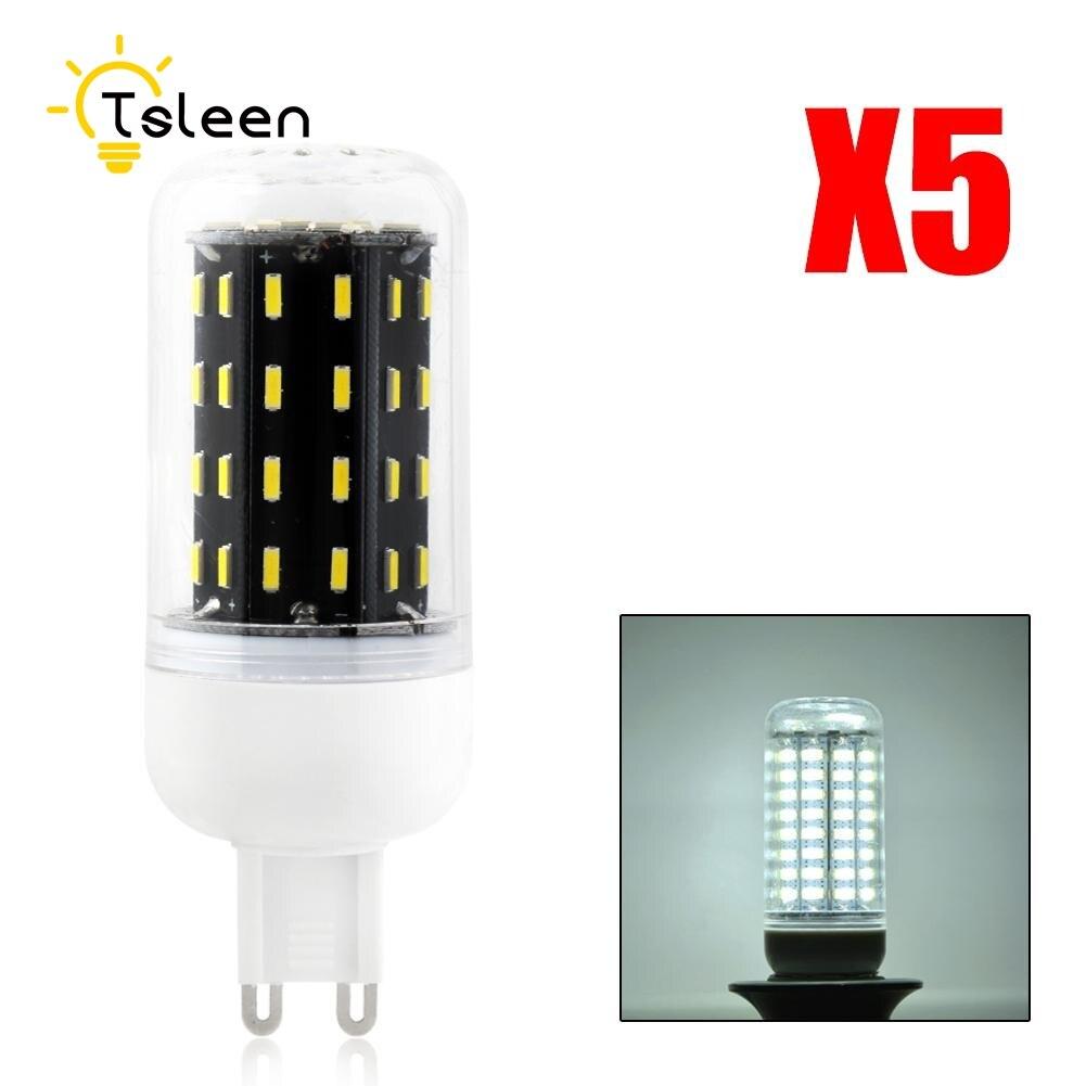 TSLEEN Cheap 5x G9 Led Corn Lamp Led Bulb 4014 SMD G9 Chandelier Light 360 Degrees 36 56 72 96 Leds Indoor Home Decorative Lamps