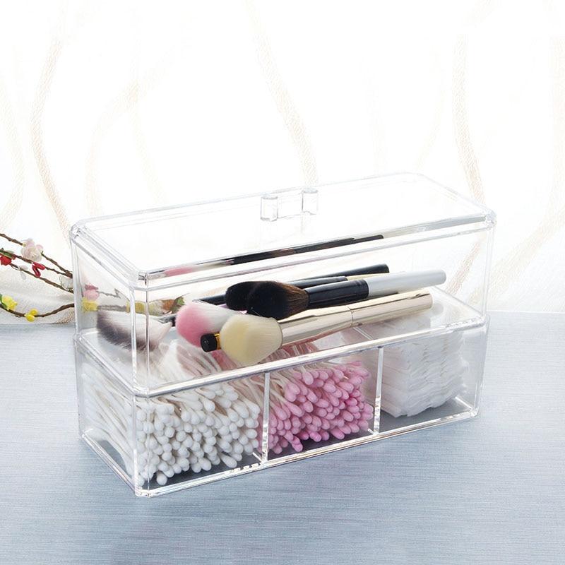 Cristal Acrylique Cosmétique maquillage Organisateur box pour fille ...