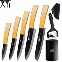 7 Pcs Set Ceramic Knife XYj 3 4 5 6 Kitchen Knife 6 Serrated Bread Knife