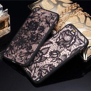 Сексуальный чехол для телефона с цветочным рисунком для Apple iPhone 7, 8, 6, 6s, 5 ярдов, жесткие чехлы из поликарбоната и ТПУ с кружевными цветами, задняя крышка для iPhone X, 8 Plus