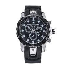 Kanishi hombres 2096 Pro Diver Colección Cronógrafo Negro reloj