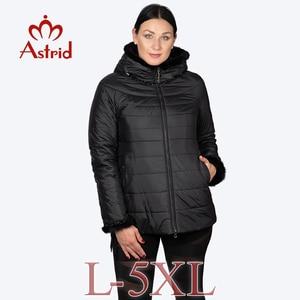 Image 2 - Hotsaleの冬のジャケットの女性ショートフード付きプラスサイズ暖かい袖口毛深い女性ジャケットたてがみ服ウクライナジャケットam 2059