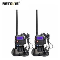 מכשיר הקשר 2pcs Retevis RT5R מכשיר הקשר רדיו 128CH VHF UHF Dual Band Ham Radio אמאדור Hf משדר 2 Way CB רדיו Communicator RT5R (1)
