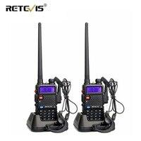 vhf uhf 2pcs Retevis RT5R מכשיר הקשר רדיו 128CH VHF UHF Dual Band Ham Radio אמאדור Hf משדר 2 Way CB רדיו Communicator RT5R (1)