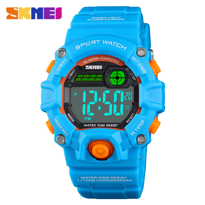 SKMEI Kids Watch Luminous-Clock Digital Waterproof Children Fashion New Dual-Display