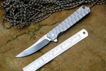 Y START new flipper knife 440C blade ceramic ball bearing washer titanium knife TC4 handle outdoor