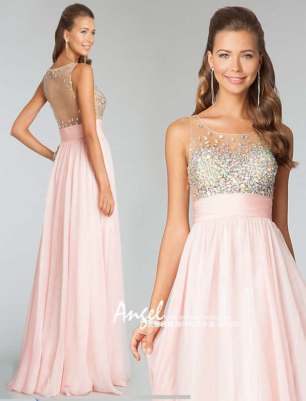 Free Shipping Robe De Soiree 2018 New Fashion Hot&sexy Backless Crystal Vestido De Festa Prom Gown Party Bridesmaid Dresses